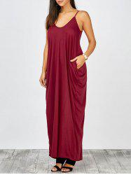 Cami Summer Casual Maxi Robes - Rouge Vineux