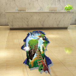Natural Ladder Landscape Pattern Toilet 3D Wall Art Sticker