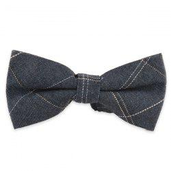 Dashed Line Plaid Design Formal Bow Tie