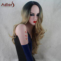Adiors Long Gradient Wavy Middle Part Capless Synthetic Wig