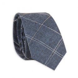 Plaid Cotton Blend Neck Tie