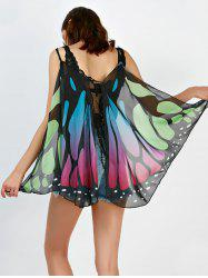 Butterfly Wing Shape Cape Scarf - COLORFUL