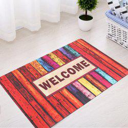Colorful Stripe Absorbent Rubber Bath Mat