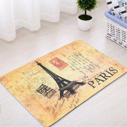 Eiffel Tower Antislip Absorption Bathroom Rug