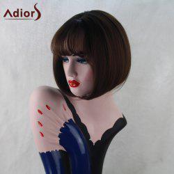 Adiors Straight Full Bang Bob Short Synthetic Wig