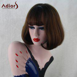 Adiors Short Full Bang Straight Inner Buckle Bob Synthetic Wig