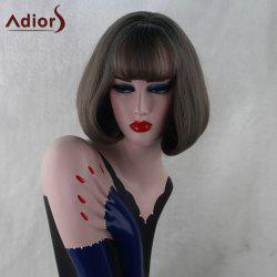 Adiors Short Inner Buckle Straight Full Bang Bob Synthetic Wig