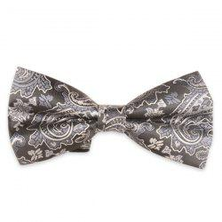 Jacquard Floral Printed Adjustable Bow Tie