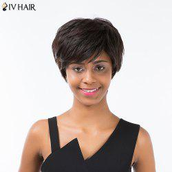 Siv Hair Short Layered Cut Side Bang Fluffy Capless Human Hair Wig