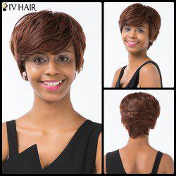 Siv Hair Short Layered Haircut Sided Bang Capless Human Hair Wig