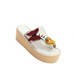PU Leather Butterfly Slippers - CANDY BEIGE