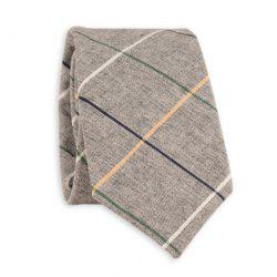 Cotton Blend Big Checkered Pattern Tie