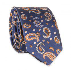 Vintage Tie with Small Paisley Embroidery