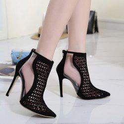 Mini Heel Hollow Out Pumps