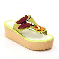PU Leather Butterfly Slippers