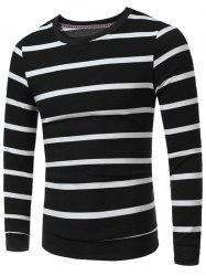 Crew Neck Striped Sweatshirt