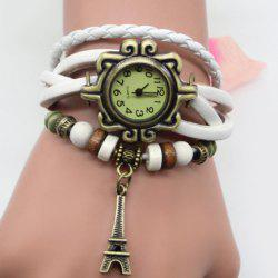 Eiffel Tower Number Vintage Bracelet Watch -