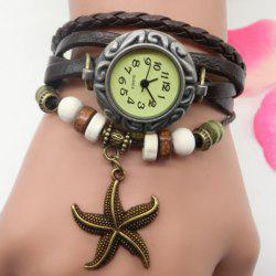 Starfish Number Vintage Bracelet Watch