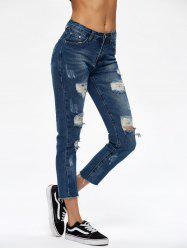 Broken Hole Cropped Jeans