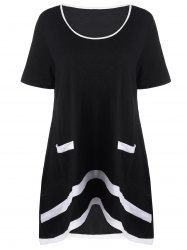 Plus Size Longline T-Shirt with Pockets