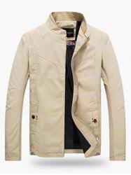 Stand Collar Zippered Jacket