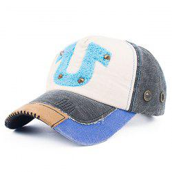 Towelling Character Patchwork Rivet Baseball Hat