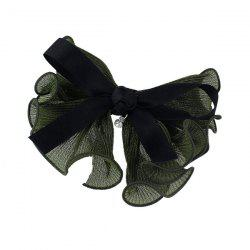 Rhinestone Bows Hairgrip - DEEP GREEN