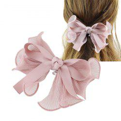 Rhinestone Bows Hairgrip - PINK