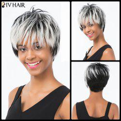 Siv Hair Pixie Colormix Short Side Bang Straight Layered Human Hair Wig