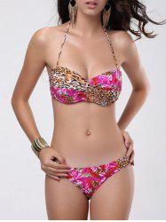 Padded Low Waist Push Up Bandeau Bikini