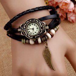 Vintage Angel Wing Braid Bracelet Watch