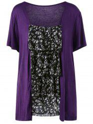 Ruffles Layered Plus Size Top - PURPLE