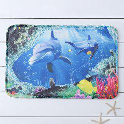 Undersea World Print Slow Rebound Bathroom Mat