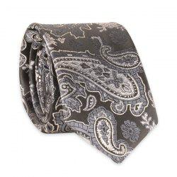 Vintage Tie with Paisley Jacquard - GRAY