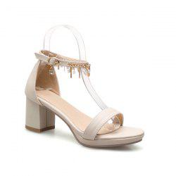 Ankle Strap Faux Leather Sandals