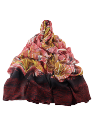 Abstract Stripe Printed Wrap Scarf