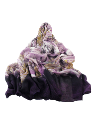 Abstract Stripe Printed Wrap Scarf - PURPLE