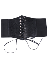 High Waist Corset Belt with Lace Up