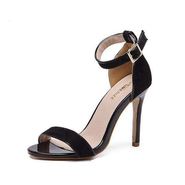 Trendy Ankle Strap Stiletto Heel Sandals