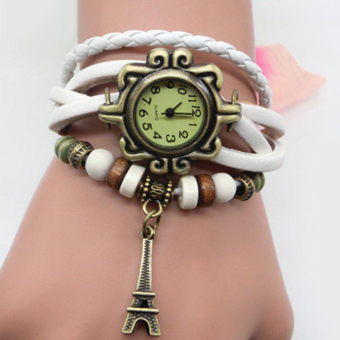 Trendy Eiffel Tower Number Vintage Bracelet Watch