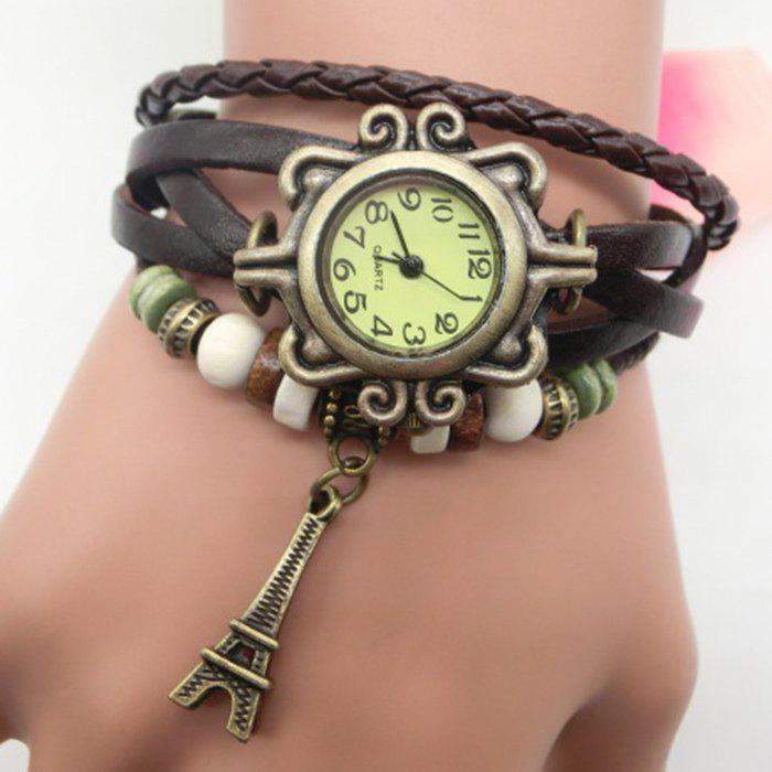 Fancy Eiffel Tower Number Vintage Bracelet Watch