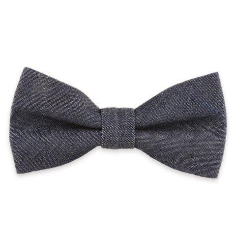 Buy Denim Fabric Double Deck Design Bow Tie