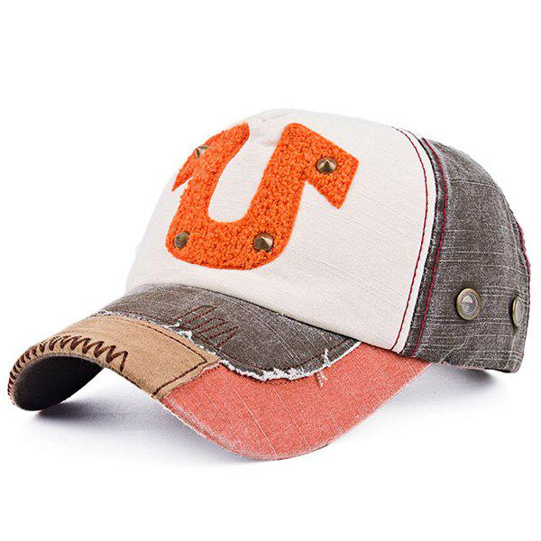Fancy Towelling Character Patchwork Rivet Baseball Hat