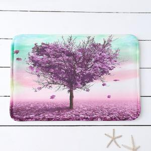Heart Tree Print Water Absorbing Bathroom Mat