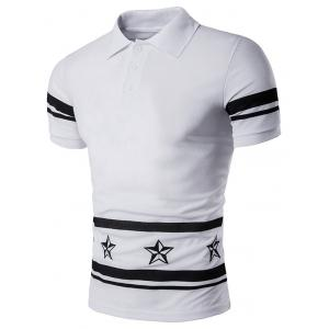 Star Numbers Printed Polo T-Shirt