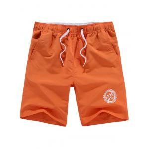 Drawstring Graphic Beach Shorts