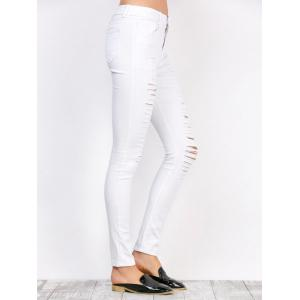 Distressed High Waist Stretchy Skinny Pants -