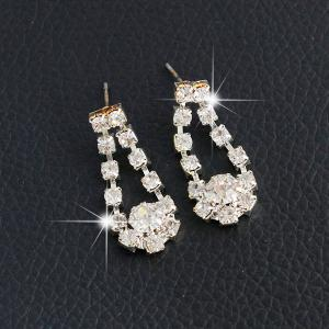 Artificial Pearl Wedding Rhinestone Jewelry Set -
