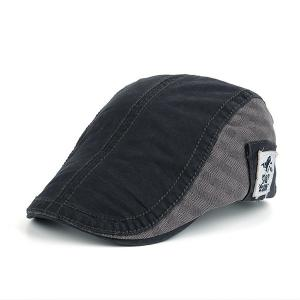 UV Protection Jeff Cap with Applique - Deep Gray - 42