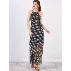 Spaghetti Strap Polka Dot Maxi Dress -